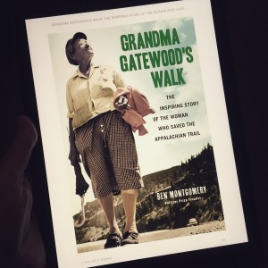 """Grandma Gatewood"" A picture of a Kindle book cover on my iPad may seem an odd choice, but not when it's a book worth sharing. I'm only 1/4 of the way through and am highly enjoying it. Not only is the story of this 67 year old lady's thru hike on the AT a fascinating one, it's also a nice history lesson. A lot has happened in our modern world just since the 1950s (interstates were built, cars were manufactured, etc), which really puts things in perspective. If you're hiker or enjoy the outdoors (and living off the grid), give this one a read."